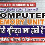 कंप्यूटर मेमोरी यूनिट्स